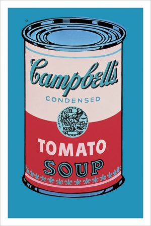 Campbell's Soup Can, 1965 (pink & red)