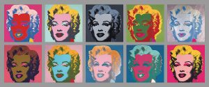 Ten Marilyns, 1967 - by Andy Warhol